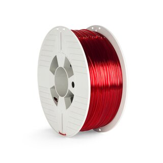 Verbatim PET-G Filament - 1.75 mm - Transparent Rot - 1 kg