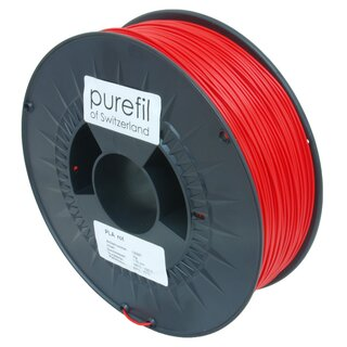 Filament PLA purefil of Switzerland 1.75 mm verkehrsrot 1...