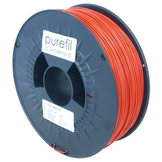 Filament PLA purefil of Switzerland 1.75 mm neonrot 1 kg...