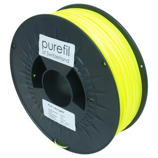 Filament PLA purefil of Switzerland 1.75 mm neongelb 1 kg...