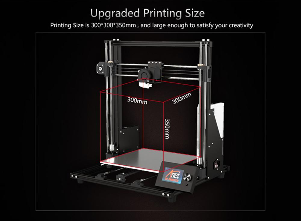 Anet A8 Plus 3D-Drucker Bausatz - 300x300x350mm - Größerer Bauraum
