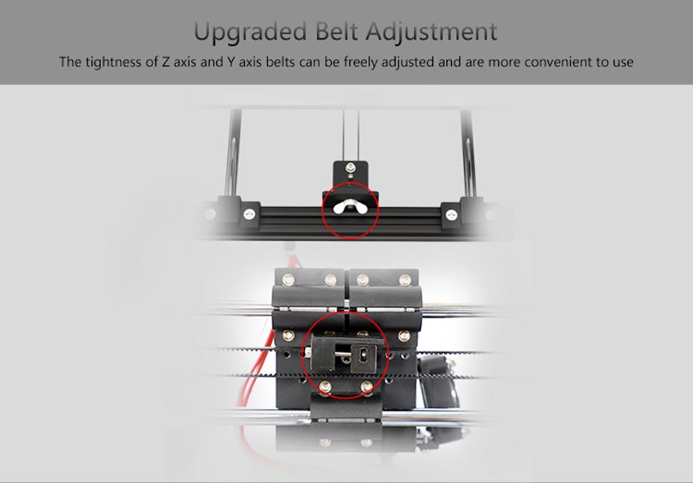 Anet A8 Plus 3D-Drucker Bausatz - 300x300x350mm - Leichtere Einstellung der Riemenspannung