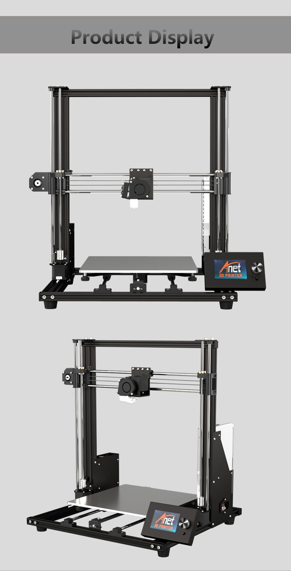 Anet A8 Plus 3D-Drucker Bausatz - 300x300x350mm - Verschiedene Ansichten