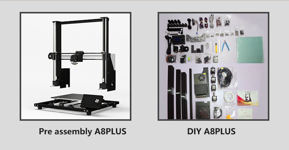 Anet A8 Plus 3D-Drucker Bausatz - 300x300x350mm - Unterschiede DIY zu Bautatz
