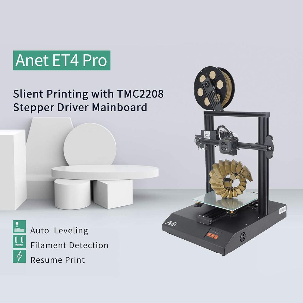 Anet ET4 Pro 3D-Drucker Bausatz - 220x220x250mm - Neue Version 2020