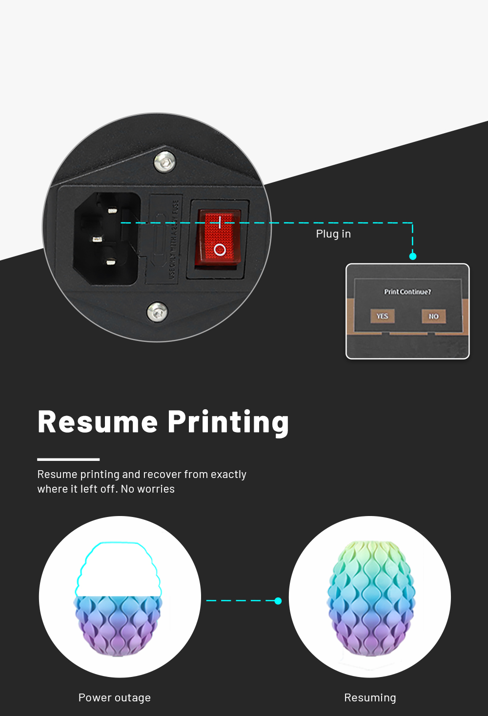 Anet ET4 Pro 3D-Drucker Bausatz - 220x220x250mm - Resume Printing Funktion