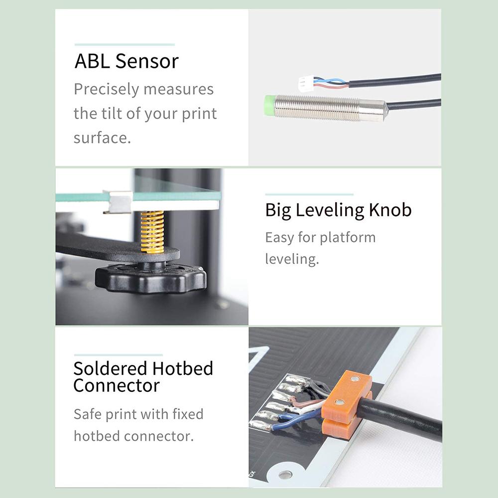 Anet ET4 Pro 3D-Drucker Bausatz - 220x220x250mm - Näherungssensor - Ergonomische Nivelliermuttern - Fester Hotbed Anschluß