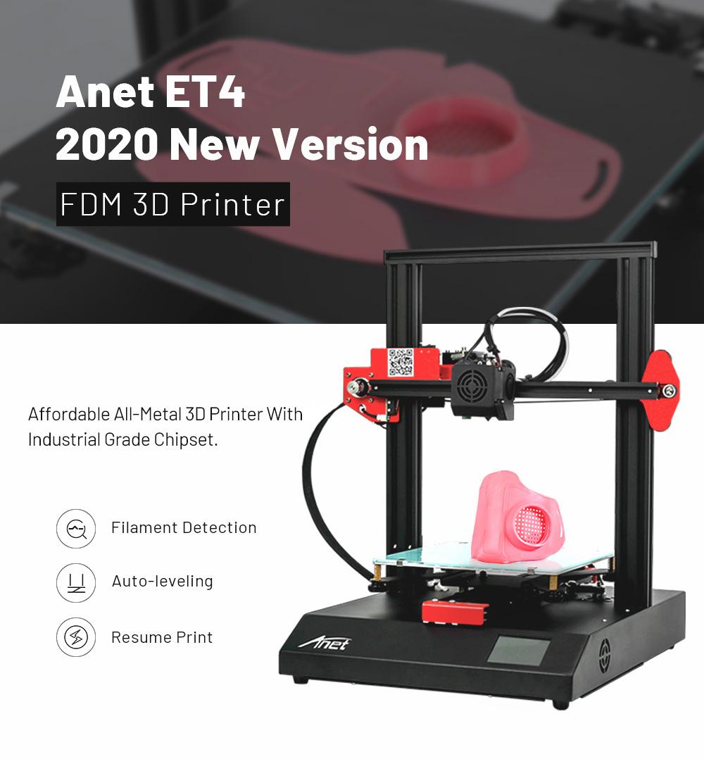 Anet ET4 3D-Drucker Bausatz - 220x220x250mm - Neue Version 2020