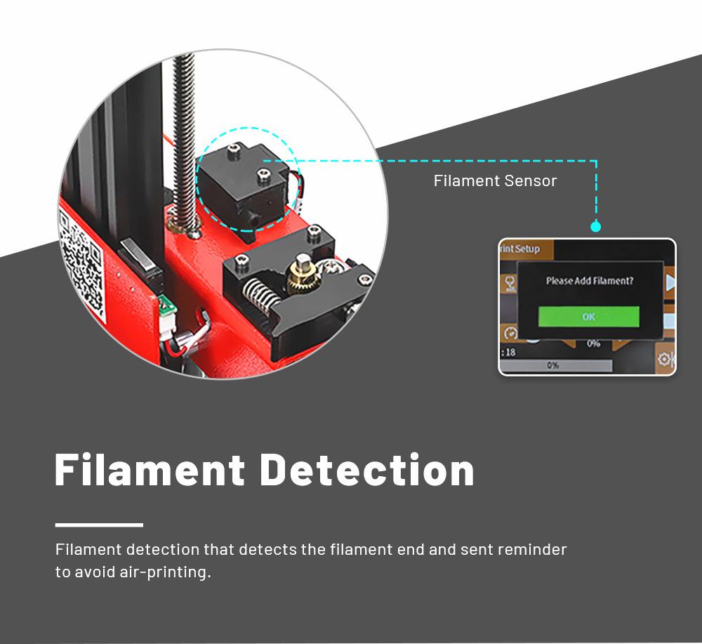 Anet ET4 3D-Drucker Bausatz - 220x220x250mm - Filament Erkennung