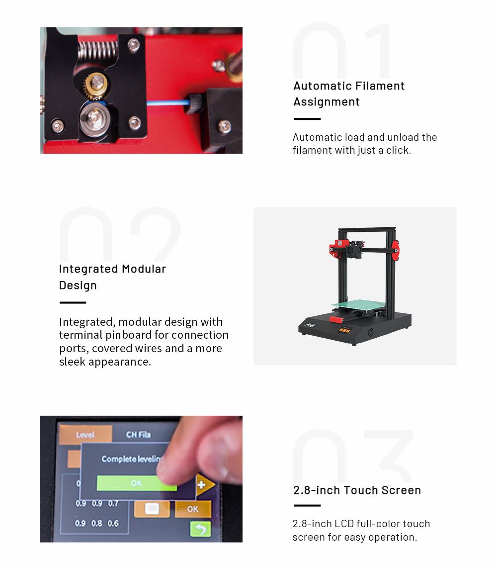 Anet ET4 3D-Drucker Bausatz - 220x220x250mm - Filament Zuweisung - Modularer Aufbau - 2.8 Zoll Touch-Screen Display