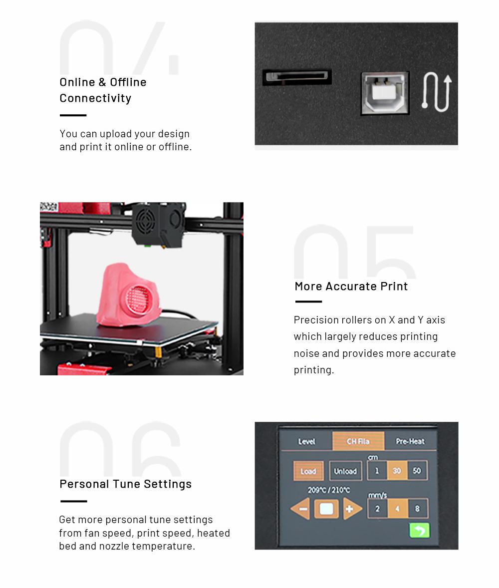 Anet ET4 3D-Drucker Bausatz - 220x220x250mm - Anschlüsse - genaueres drucken - Persönliche Einstellungen