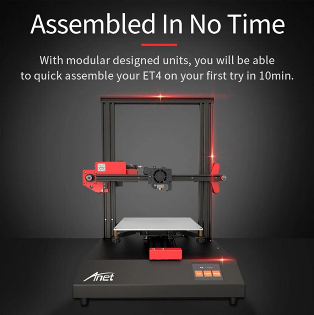 Anet ET4 3D-Drucker Bausatz - 220x220x250mm - Kurze Aufbauzeit