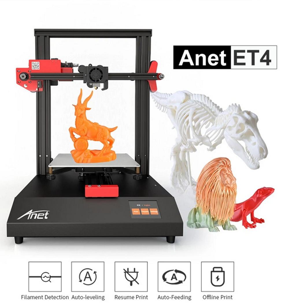 Anet ET4 3D-Drucker Bausatz - 220x220x250mm - Übersicht Funktionen