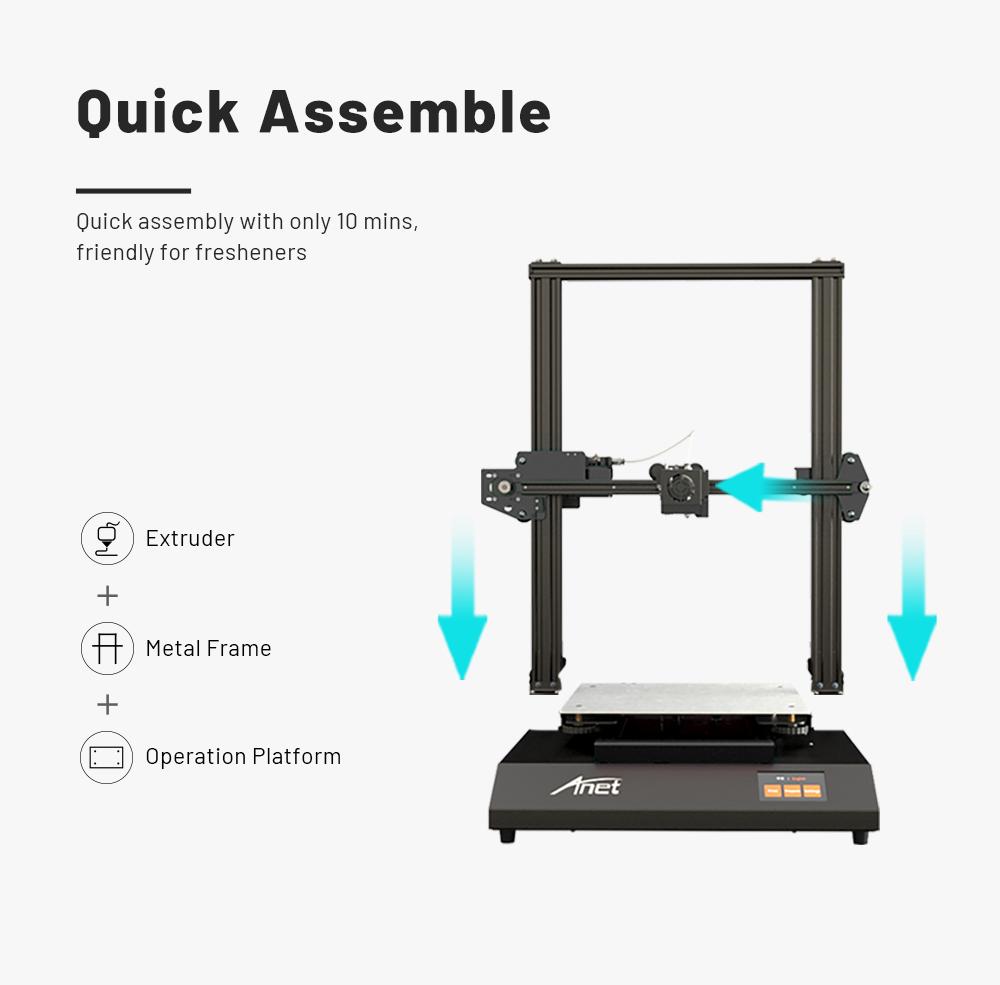 Anet ET5 Pro 3D-Drucker Bausatz - 300x300x400mm - Kurze Aufbauzeit