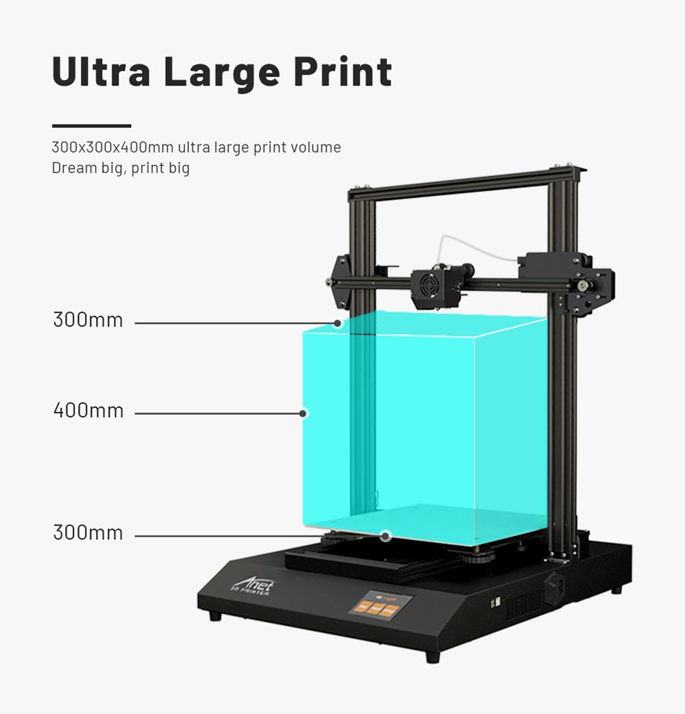 Anet ET5 Pro 3D-Drucker Bausatz - 300x300x400mm - Super großer Bauraum