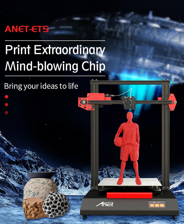 Anet ET5 3D-Drucker Bausatz - 300x300x400mm - Neue Version 2020