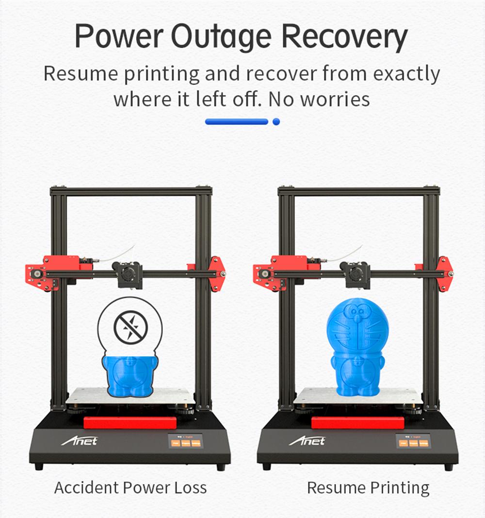 Anet ET5 3D-Drucker Bausatz - 300x300x400mm - Resume Printing Funktion