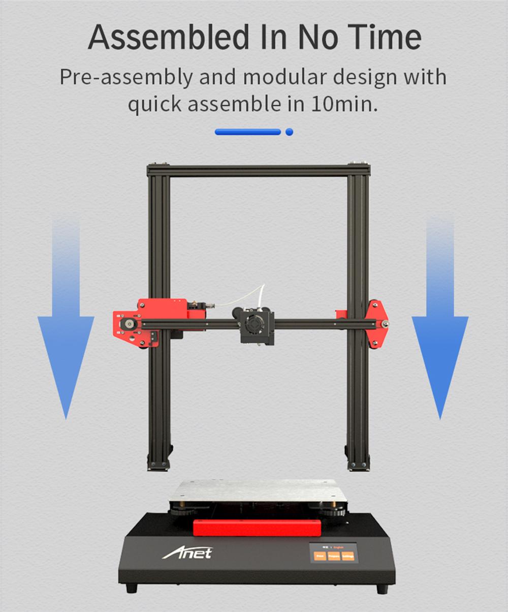Anet ET5 3D-Drucker Bausatz - 300x300x400mm - Kurze Aufbauzeit