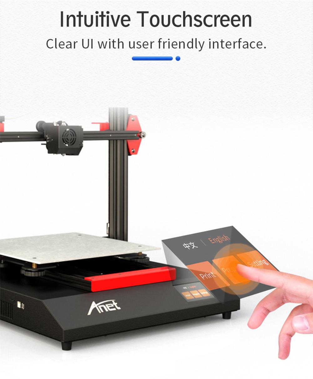 Anet ET5 3D-Drucker Bausatz - 300x300x400mm - Intuitives Touch-Screen Display