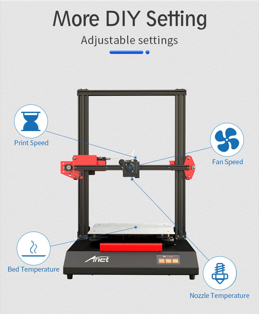 Anet ET5 3D-Drucker Bausatz - 300x300x400mm - Veränderbare Einstellungen