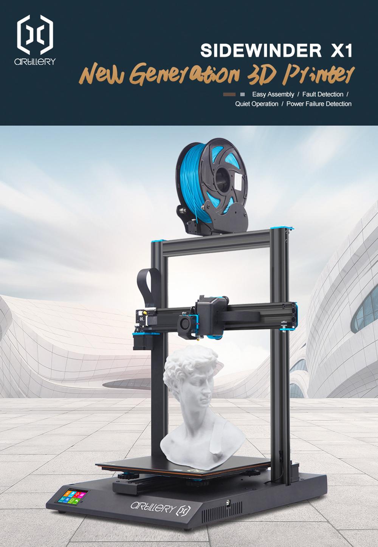 Artillery Sidewinder X1 3D-Drucker Bausatz - 300x300x400mm - Neue Generation