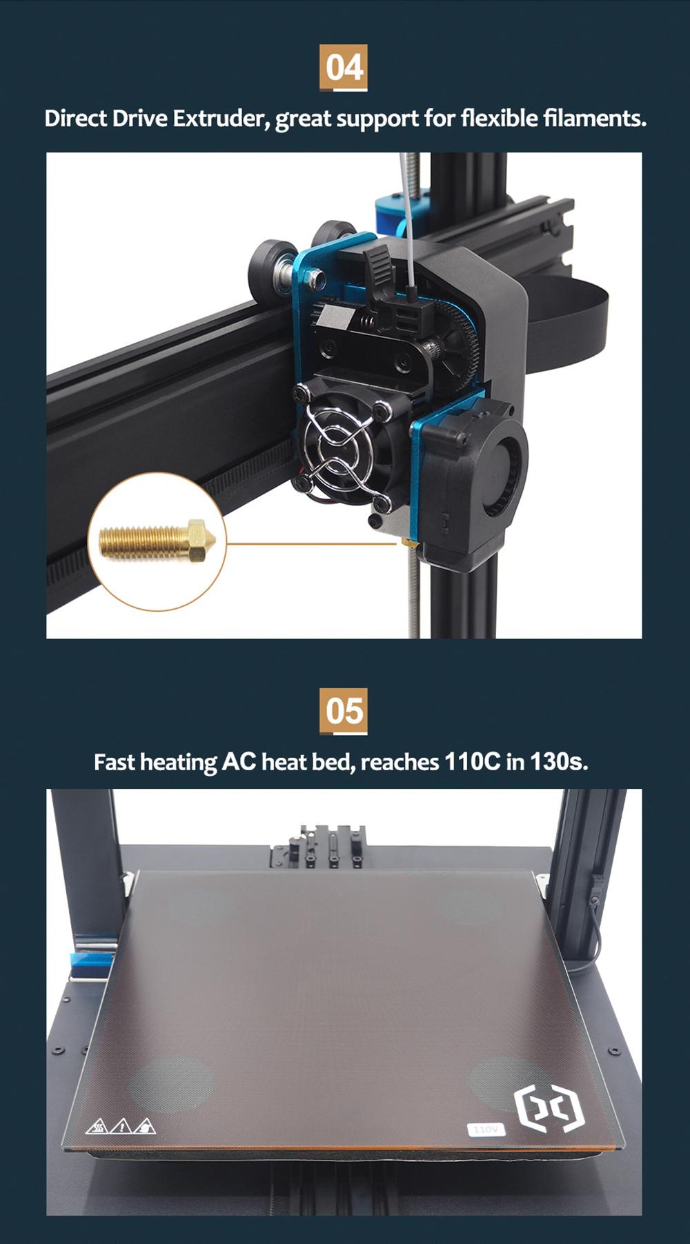 Artillery Sidewinder X1 3D-Drucker Bausatz - 300x300x400mm - Direct Drive Extruder - AC Heizbett