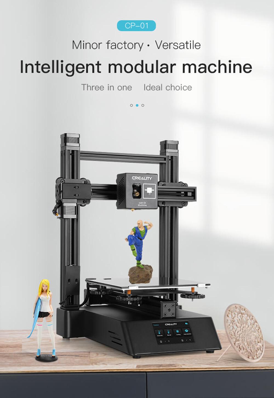 Creality3D CP-01 Multitool 3D-Drucker Bausatz - 200x200x200mm - Modulare 3 in 1 Maschine
