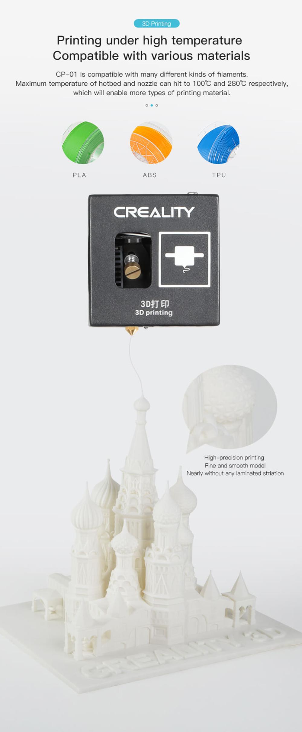 Creality3D CP-01 Multitool 3D-Drucker Bausatz - 200x200x200mm - 3D-Drucken mit hohen Temperaturen