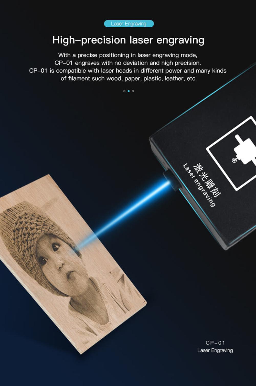 Creality3D CP-01 Multitool 3D-Drucker Bausatz - 200x200x200mm - Hochpräzise Laser Gravur