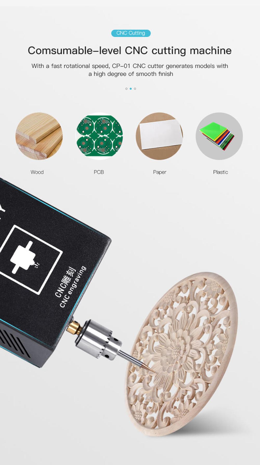 Creality3D CP-01 Multitool 3D-Drucker Bausatz - 200x200x200mm - Vielseitige CNC-Fräsmaschine