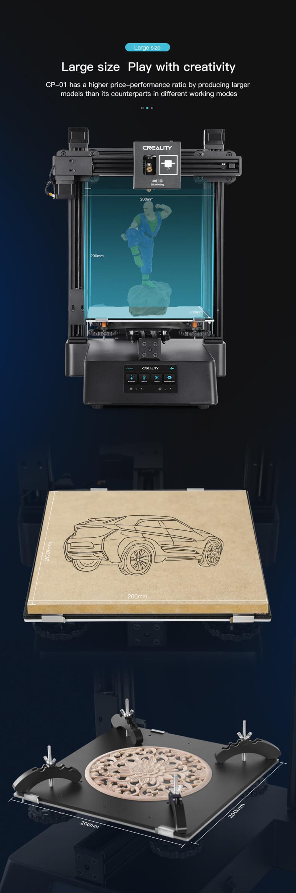 Creality3D CP-01 Multitool 3D-Drucker Bausatz - 200x200x200mm - Großer Bauraum