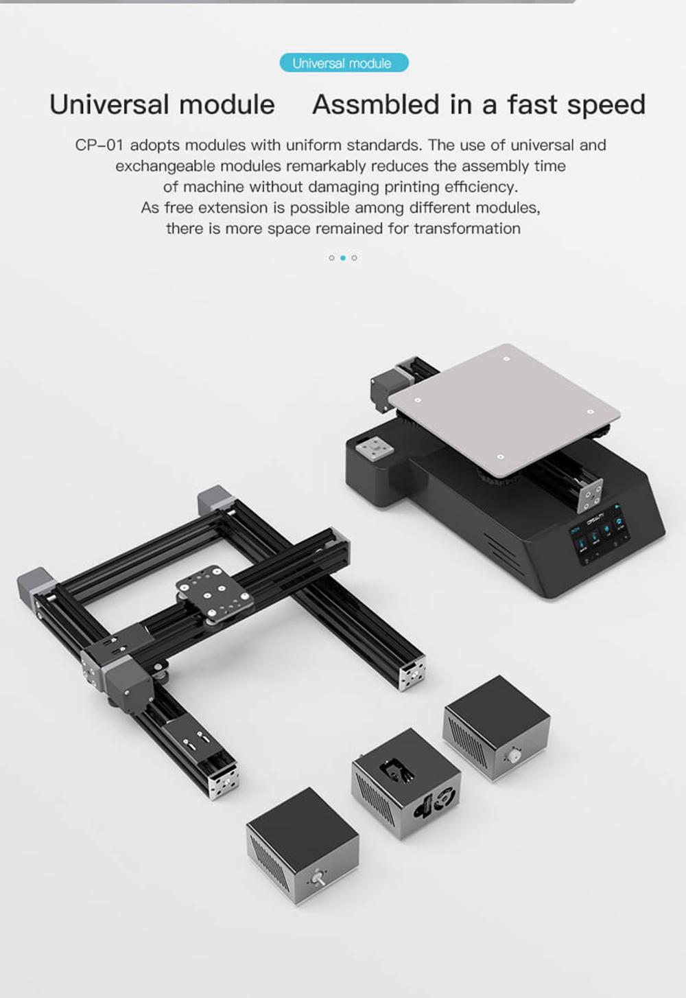 Creality3D CP-01 Multitool 3D-Drucker Bausatz - 200x200x200mm - Kurze Aufbauzeit durch Modulbauweise