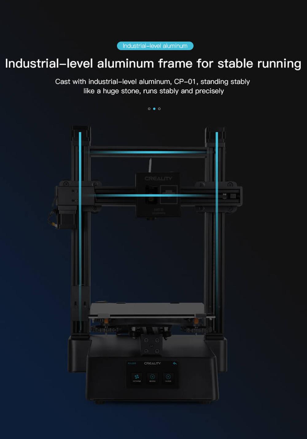 Creality3D CP-01 Multitool 3D-Drucker Bausatz - 200x200x200mm - Industrieller stabiler Aluminium Rahmen