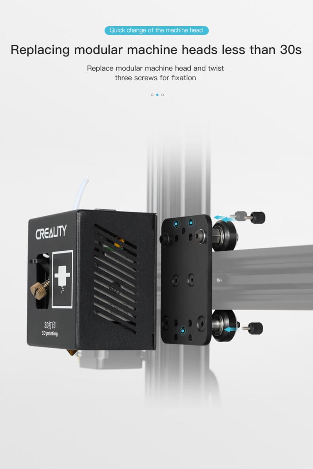 Creality3D CP-01 Multitool 3D-Drucker Bausatz - 200x200x200mm - Modulare Arbeitsköpfe in weniger als 30 Sekunden wechseln