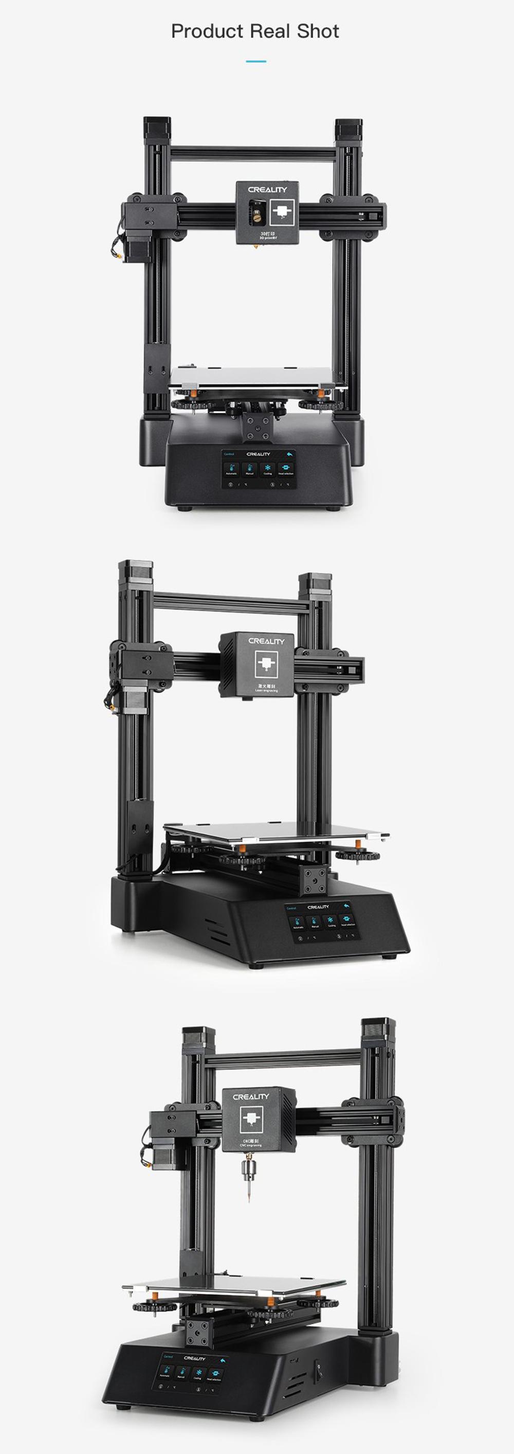 Creality3D CP-01 Multitool 3D-Drucker Bausatz - 200x200x200mm - Verschiedene Ansichten CP-01