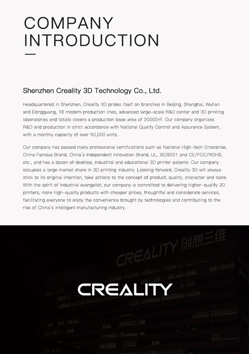 Creality3D CR-10 Max 3D-Drucker Bausatz - 450x450x470mm - Firmenvorstellung