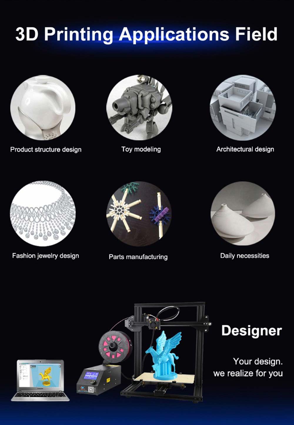 Creality3D CR-10 Mini 3D-Drucker Bausatz - 300x220x300mm - Anwendungsbeispiele