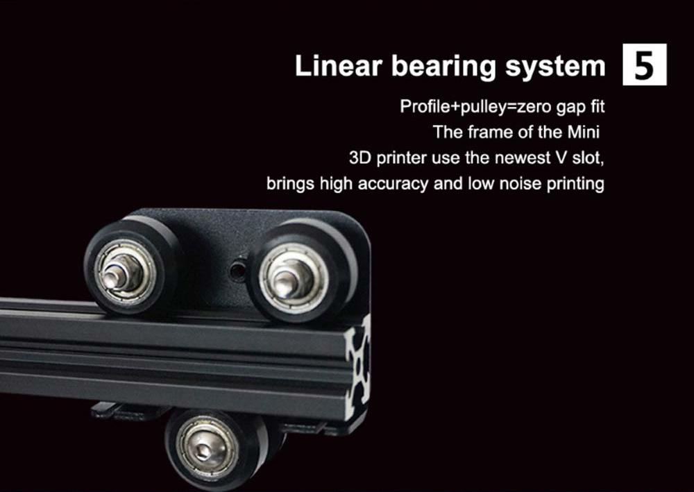 Creality3D CR-10 Mini 3D-Drucker Bausatz - 300x220x300mm - V-Slot Profilführungen