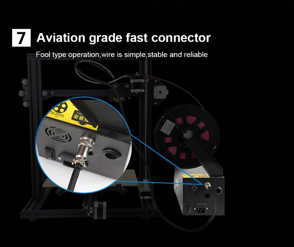 Creality3D CR-10 Mini 3D-Drucker Bausatz - 300x220x300mm - Schraubanschlüsse