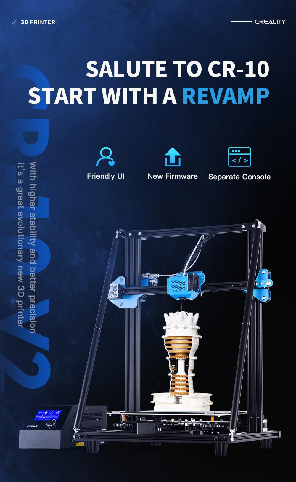 Creality CR-10 V2 3D-Drucker Bausatz - 300x300x400mm - Produktvorstellung