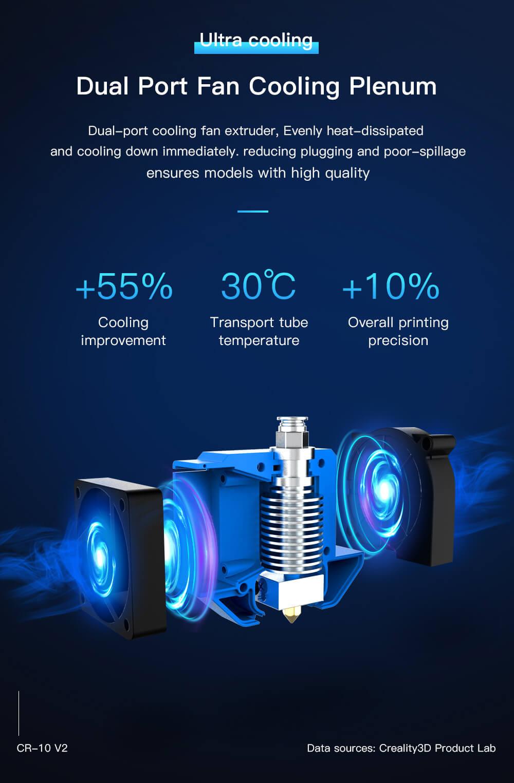 Creality CR-10 V2 3D-Drucker Bausatz - 300x300x400mm - Duale Bauteilkühlung