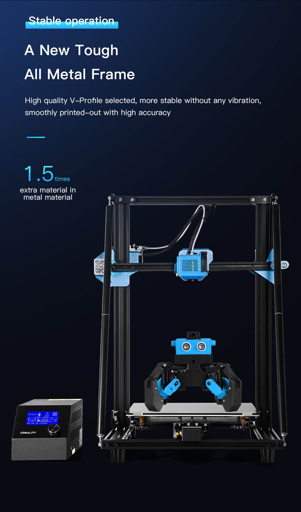 Creality CR-10 V2 3D-Drucker Bausatz - 300x300x400mm - Ganzmetallrahmen