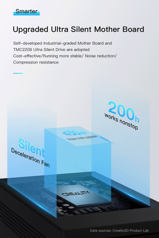 Creality CR-10 V2 3D-Drucker Bausatz - 300x300x400mm - Verbesserte ultra leise Hauptplatine mit TMC 2208 Schrittmotortreibern