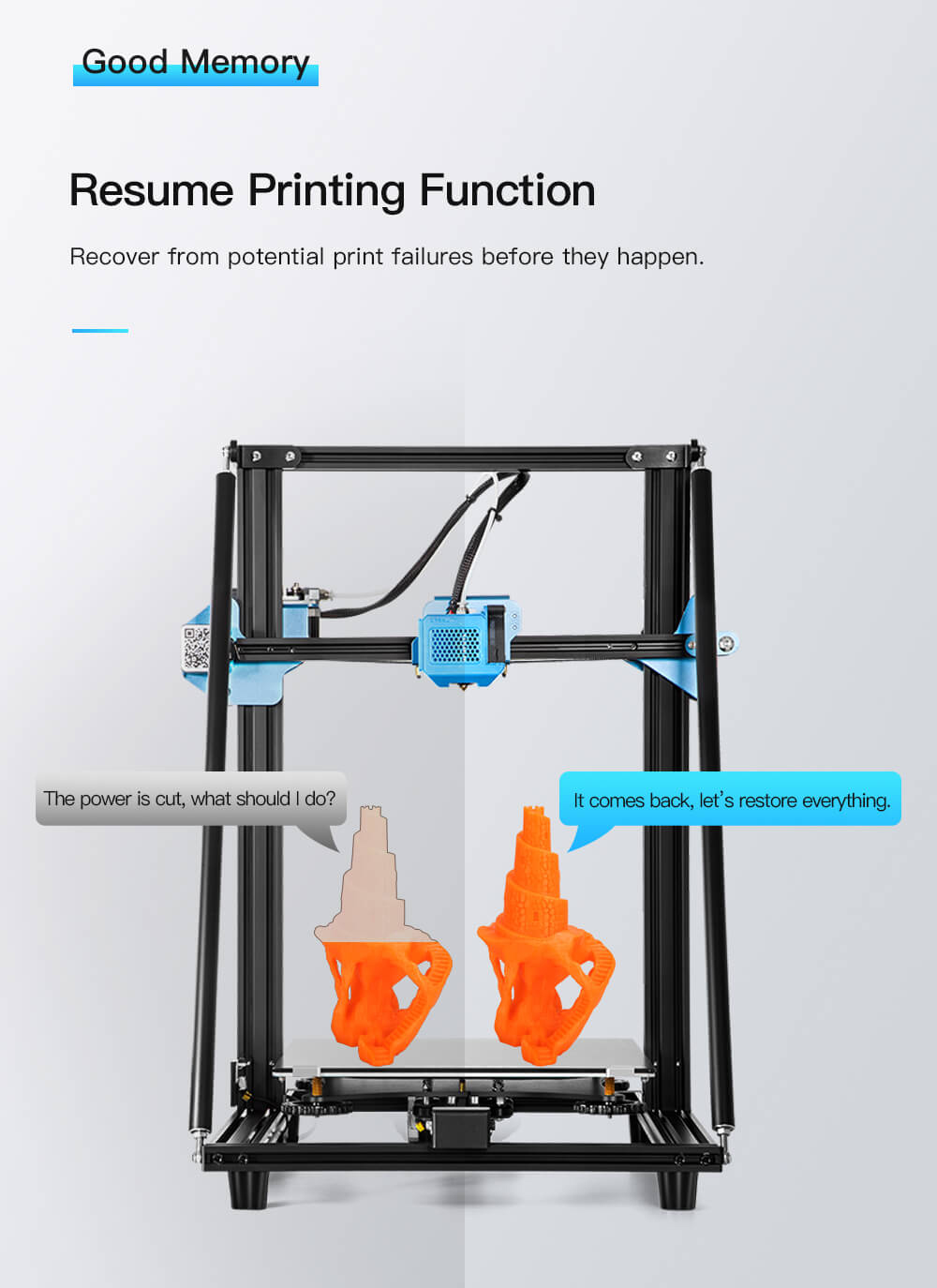 Creality CR-10 V2 3D-Drucker Bausatz - 300x300x400mm - Resume Printing Funktion