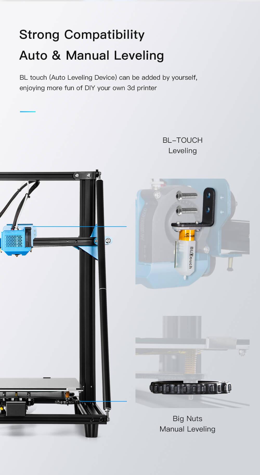 Creality CR-10 V2 3D-Drucker Bausatz - 300x300x400mm - Optional BL-Touch Sensor zum Nachrüsten