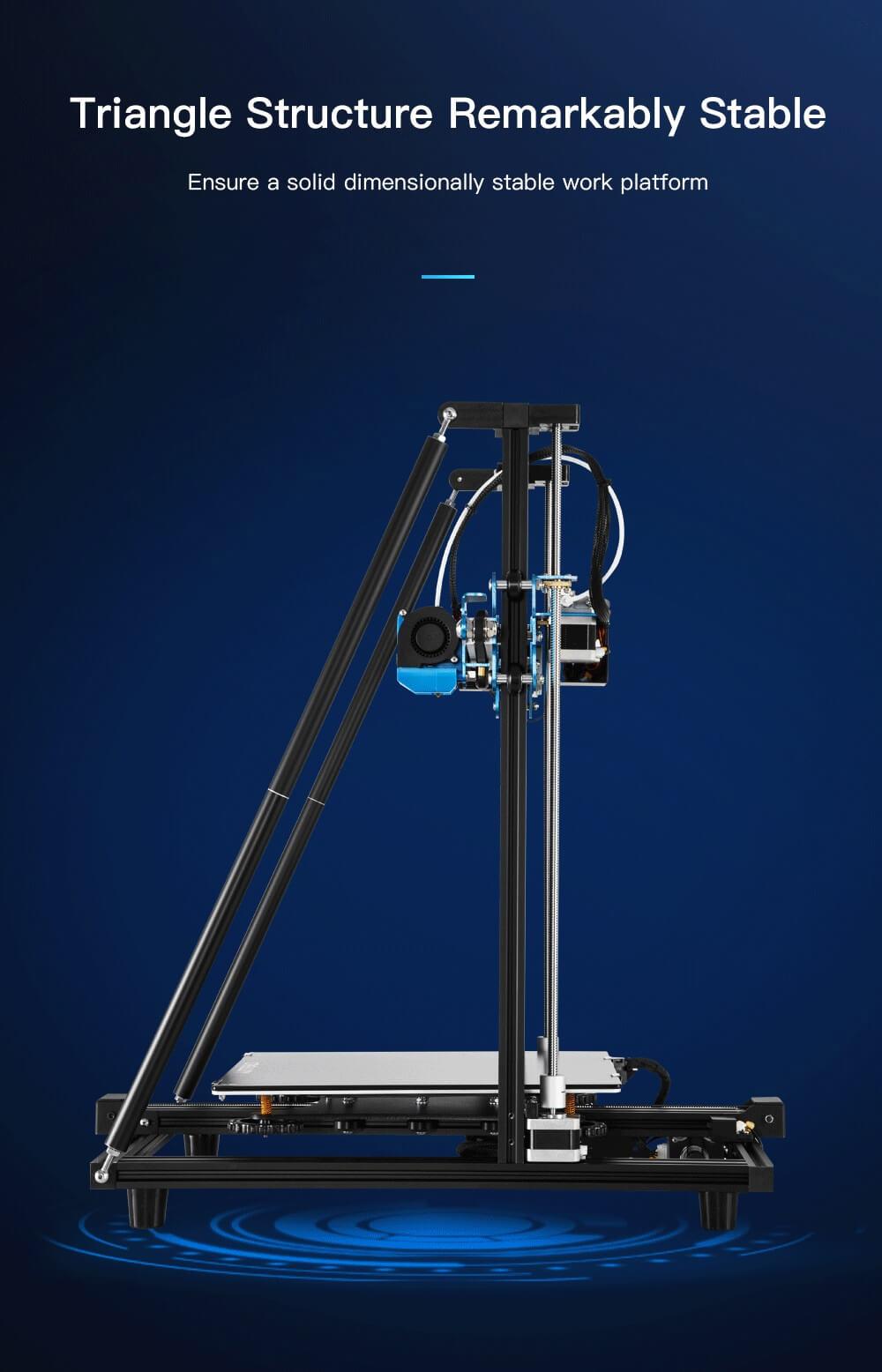 Creality CR-10 V2 3D-Drucker Bausatz - 300x300x400mm - Stabile Dreiecksstruktur