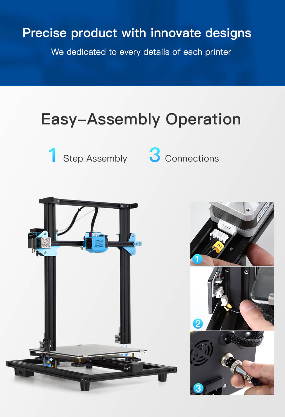 Creality CR-10 V2 3D-Drucker Bausatz - 300x300x400mm - Leichter Aufbau