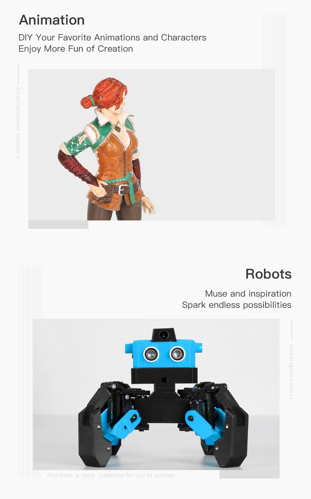 Creality CR-10 V2 3D-Drucker Bausatz - 300x300x400mm - Einsatzbereiche in Animation und Robotik