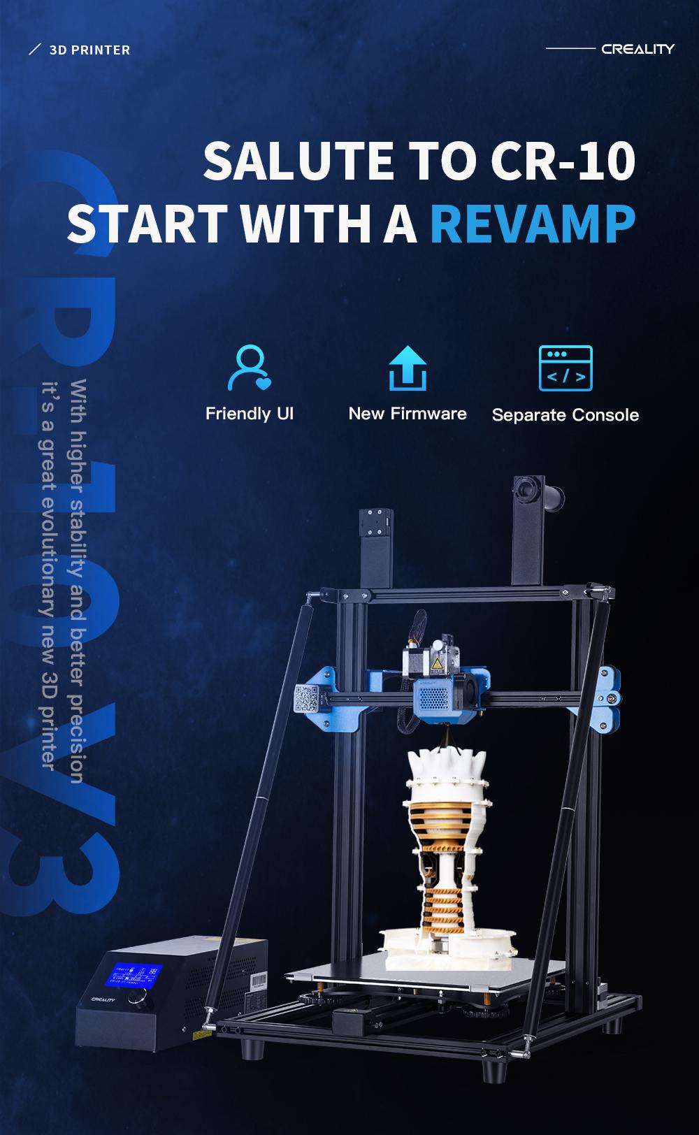 Creality3D CR-10 V3 3D-Drucker Bausatz - 300x300x400mm - Produktvorstellung