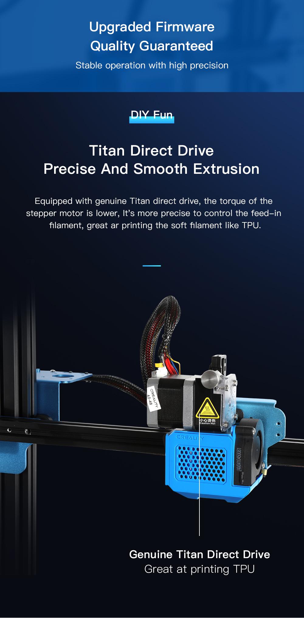Creality3D CR-10 V3 3D-Drucker Bausatz - 300x300x400mm - Titan Direkt Extruder
